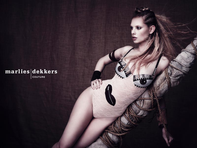 Make-up for Marlies Dekker Couture advert
