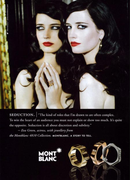 Mont Blanc advertisement photo makeup