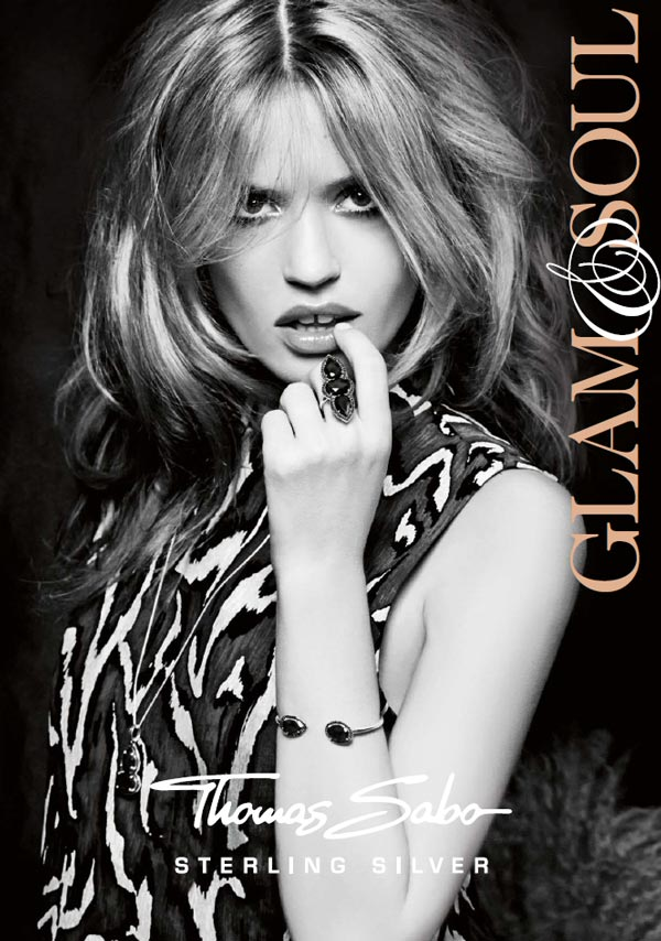 Georgia May Jagger mackup for Thomas Sabo advert