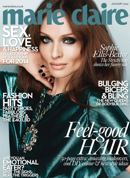 Marie Claire cover makeup Sophie Ellis-Bextor