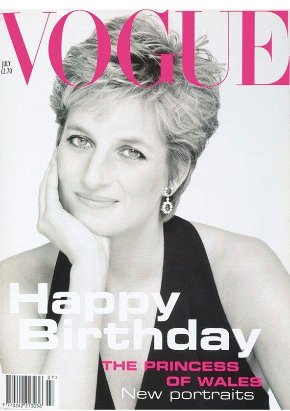 Vogue cover makeup Princess Diana